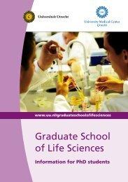 Graduate School of Life Sciences - UMC Utrecht