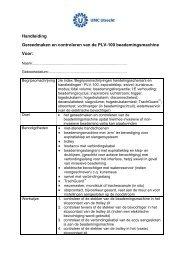 Gereedmaken en controleren PLV 100.pdf - UMC Utrecht