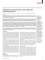 Articles Antibiotics for acute otitis media: a meta ... - UMC Utrecht