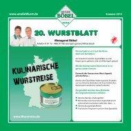 20. WURSTBLATT - Metzgerei Böbel
