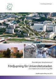 Utställningshandling för universitetsstaden - Umeå kommun