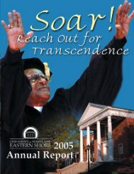 • annual report 2004-2005 - University of Maryland Eastern Shore