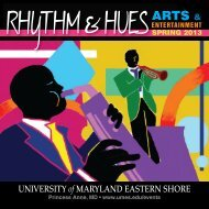 ARTS & - University of Maryland Eastern Shore