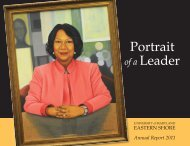 Portrait of a Leader - University of Maryland Eastern Shore
