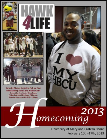 Homecoming Brochure - University of Maryland Eastern Shore