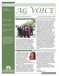 Ag Voice Fall 2008.pub - University of Maryland Eastern Shore