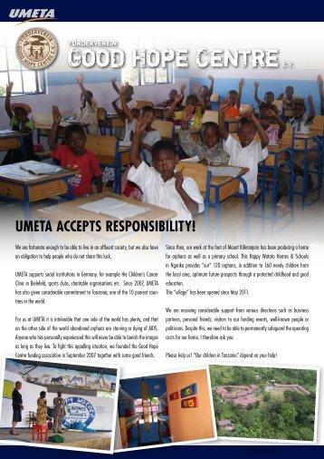 UMETA ACCEPTS RESPONSIbILITY!