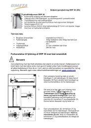 Forberedelse til fyldning af DRP 30 med løst smørefedt Bemærk