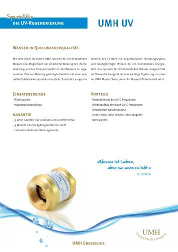 Download Produktflyer UV - UMH