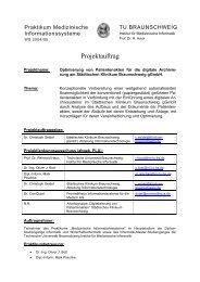 Projektauftrag - Technische Universität Braunschweig