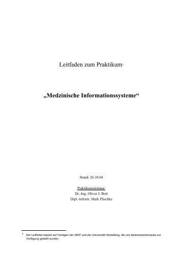 Leitfaden zum Praktikum - Technische Universität Braunschweig
