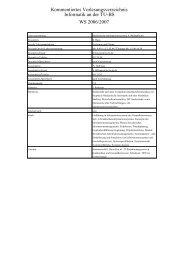 Kommentiertes Vorlesungsverzeichnis Informatik an der TU-BS WS ...