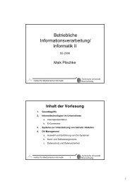 Betriebliche Informationsverarbeitung/ Informatik II - Peter L ...
