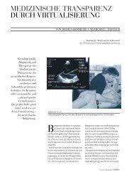 Medizinische Transparenz durch Virtualisierung - Peter L. Reichertz ...