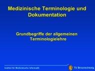Medizinische Terminologie und Dokumentation