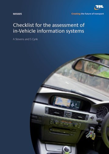 Revision of the checklist for the assessment of in-vehicle information ...