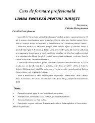 Curs limba engleza pentru juristi - Universitatea
