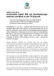 Pressemitteilung: ANGA Cable 2012 - Unitymedia KabelBW