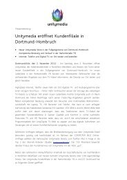 Unitymedia eröffnet Kundenfiliale in Dortmund-Hombruch