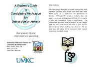 A Student's Guide to Considering Medication for Depression or Anxiety