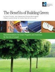 The Benefits of Building Green: - University of Massachusetts Lowell