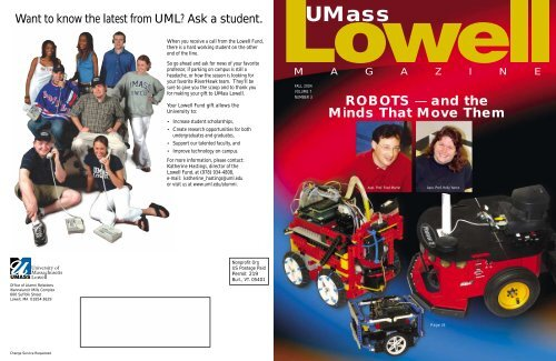 Fall 2004 - University of Massachusetts Lowell