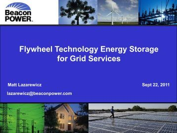 Flywheel Technology Energy Storage For Grid Services