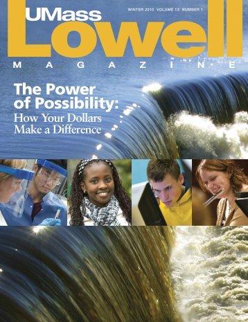 Winter 2010 - University of Massachusetts Lowell