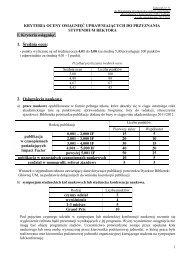 Załącznik nr 11 - Kryteria oceny osiągnięć uprawniających do ...