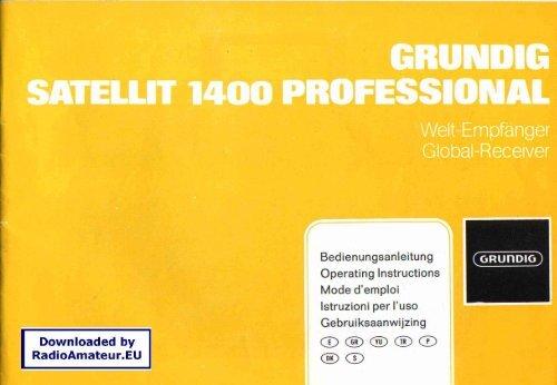 Grundig - Satellit 1400 User manual (reduced)