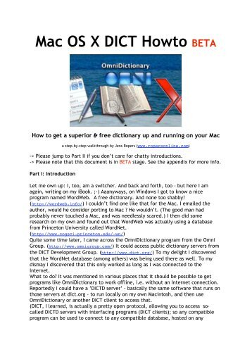 Mini howto Installing OpenOffice.org 2 (X11 Version) for Mac OS X