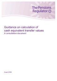 CETV - Guidance consultation document - The Pensions Regulator