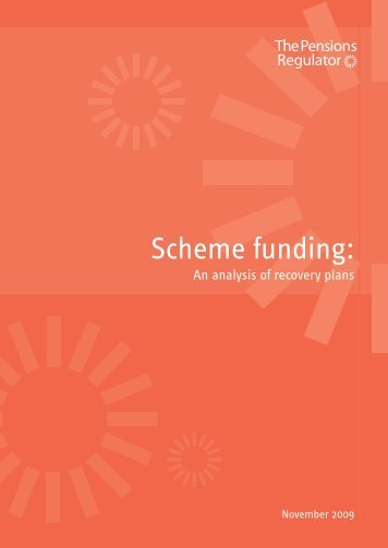 Scheme funding: an analysis of recovery plans - The Pensions ...