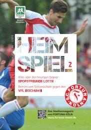 Hotline 01801–266 264 - SC Fortuna Köln