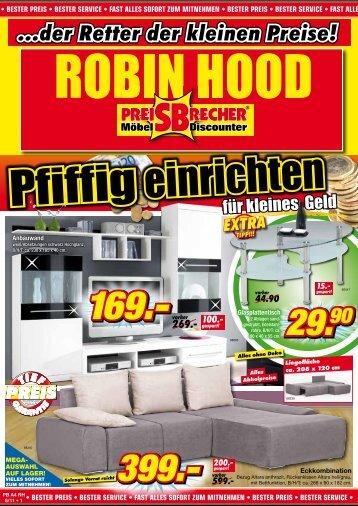 ...der retter der kleinen preise! - Robin Hood SB-Möbelmarkt in ...