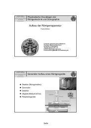 Aufbau Röntgengerät - Medizinische Fakultät Mannheim