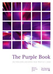 The Purple Book 2008 - The Pensions Regulator