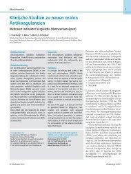 Klinische Studien zu neuen oralen Antikoagulanzien - Medizinische ...