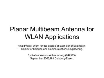 Planar Multibeam Antenna for WLAN Applications