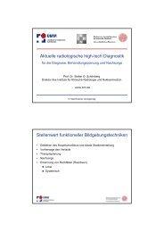 Aktuelle radiologische high-tech Diagnostik Stellenwert funktioneller ...