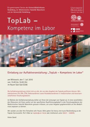 TopLab – Kompetenz im Labor - Medizinische Fakultät Mannheim