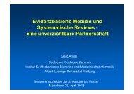 Vortrag G. Antes - Medizinische Fakultät Mannheim