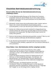 Checkliste Betriebskostenabrechnung - Ummelden.de