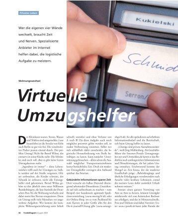 Virtuelle Umzugshelfer - Ummelden.de