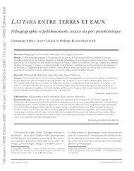 LATTARA ENTRE TERRES ET EAUX - UMR 5059