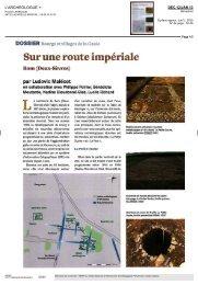 Sur une route impériale Rom (Deux-Sèvres) - UMR 5059