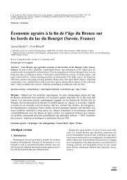 Économie agraire à la fin de l'âge du Bronze sur les ... - UMR 5059