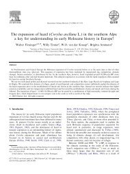 The expansion of hazel (Corylus avellana L.) in the southern ... - Igitur