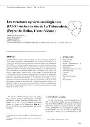 Les structures agraires carolingiennes (IXe-Xe siècles) du site de La ...