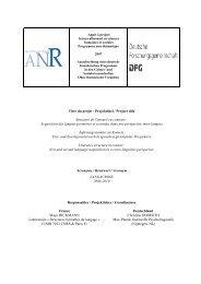 Titre du projet / Projekttitel / Project title Structure de l'énoncé en ...